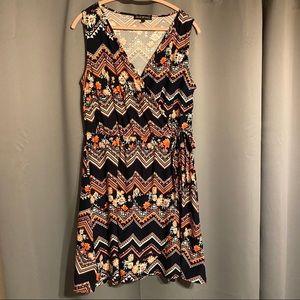 Derek Heart Plus Faux Wrap Sleeveless Dress EUC